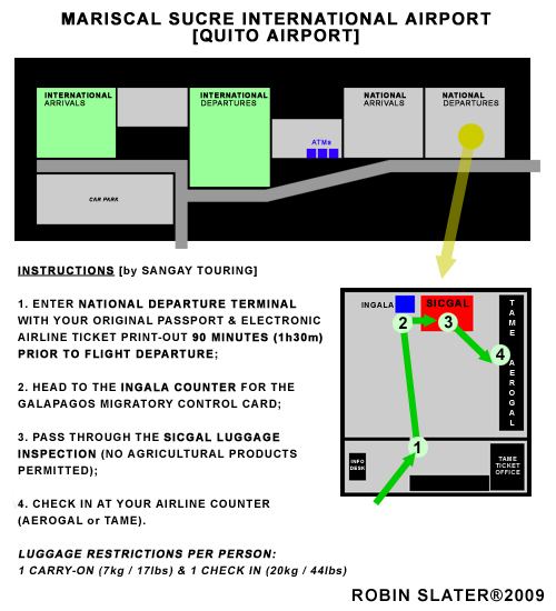 MARISCAL SUCRE AIRPORT MAP